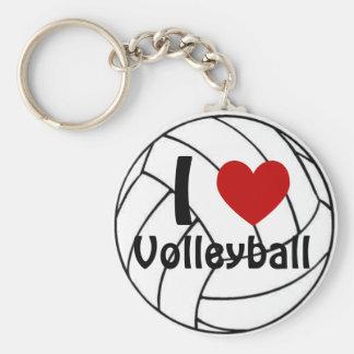I Heart Volleyball Key Ring