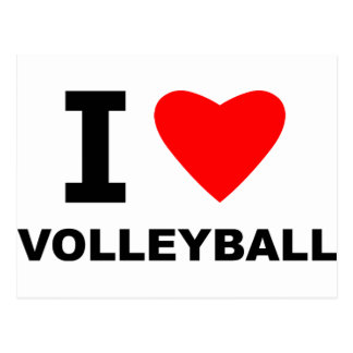 I Heart Volleyball Postcard