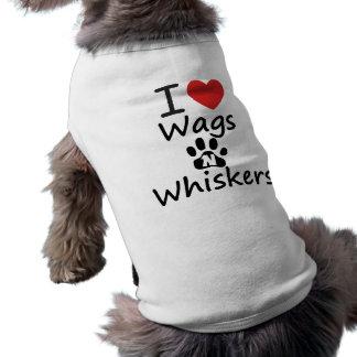 I Heart Wags N Whiskers Sleeveless Dog Shirt