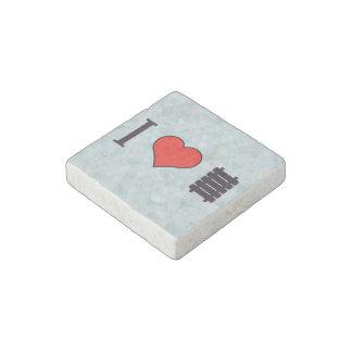 I Heart Walking Over Railway Tracks Stone Magnet