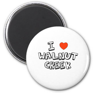 I Heart Walnut Creek 6 Cm Round Magnet