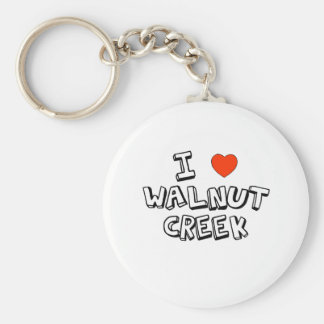 I Heart Walnut Creek Basic Round Button Key Ring