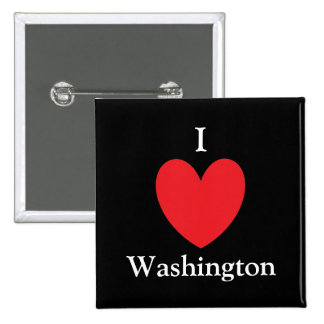 I Heart Washington Button