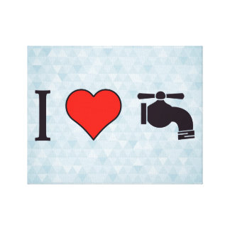 I Heart Water Canvas Print