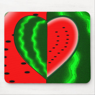 I (Heart) Watermelon Mouse Pad