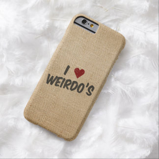 I Heart Weirdo's Burlap Barely There iPhone 6 Case