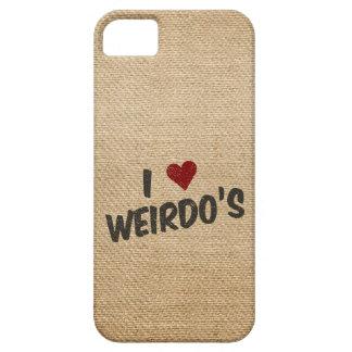 I Heart Weirdo's Burlap iPhone 5 Covers