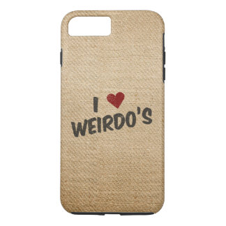 I Heart Weirdo's Burlap iPhone 7 Plus Case