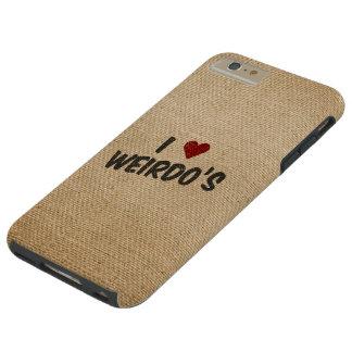 I Heart Weirdo's Burlap Tough iPhone 6 Plus Case