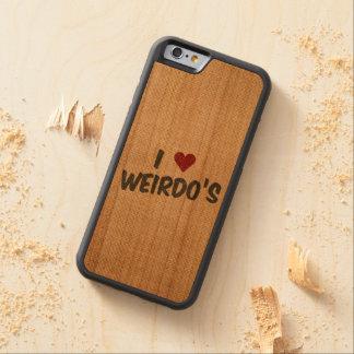 I Heart Weirdo's Burlap Cherry iPhone 6 Bumper Case