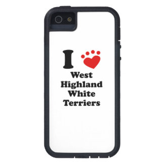 I Heart West Highland White Terriers iPhone 5 Case