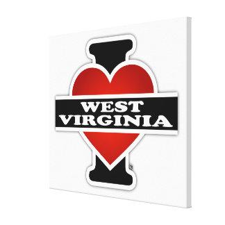 I Heart West Virginia Canvas Prints