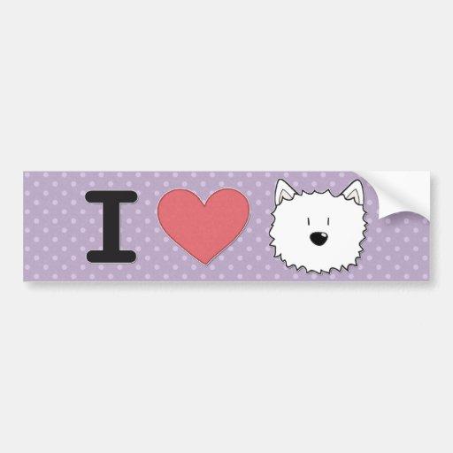 I (heart) westies bumper stickers