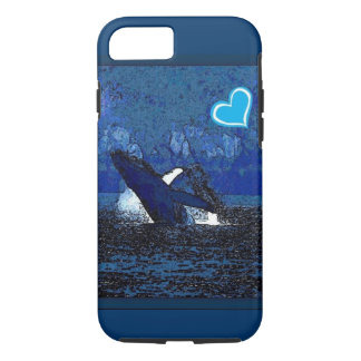 I heart Whales a treasure in blue iPhone 7 case