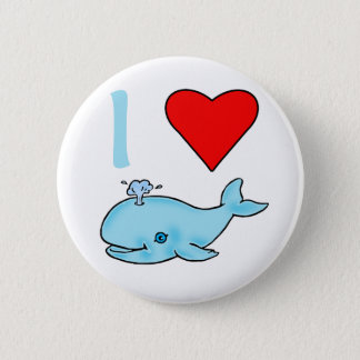 I Heart Whales Products 6 Cm Round Badge
