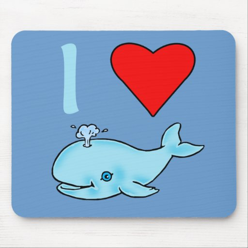 I Heart Whales Products Mouse Pad