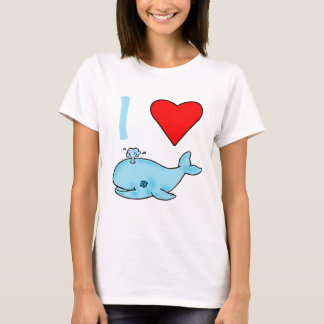 I Heart Whales Products T-Shirt