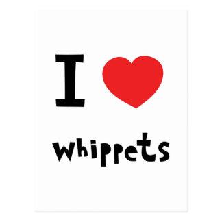 I heart Whippets Postcard