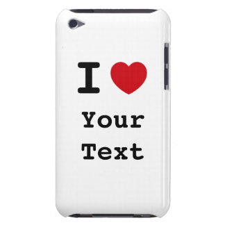 I Heart White iPod Touch Case