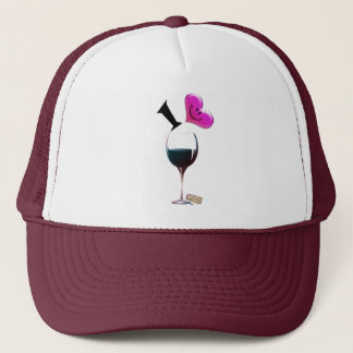 I Heart Wine Trucker Hat