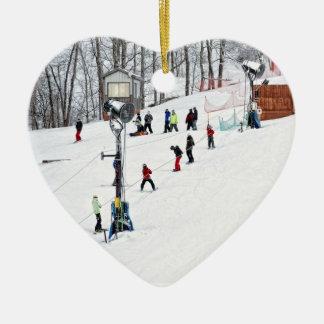 I Heart Winter Sports Christmas Ornaments