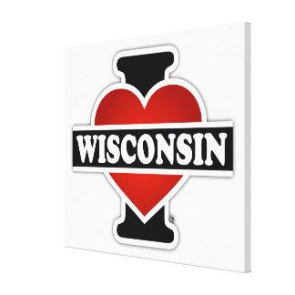 I Heart Wisconsin Gallery Wrap Canvas
