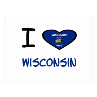 I Heart Wisconsin Postcards