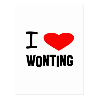 I Heart wonting Post Card