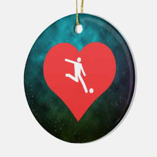 I Heart World Cup Icon Christmas Ornament