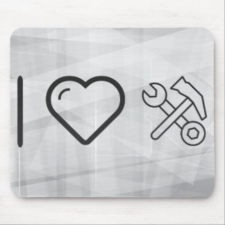 I Heart Wrench Hammers Mouse Pad