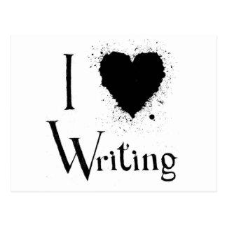 I Heart Writing Postcard