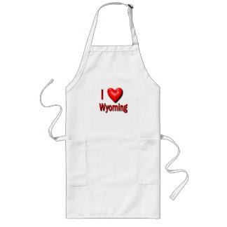 I Heart Wyoming Long Apron