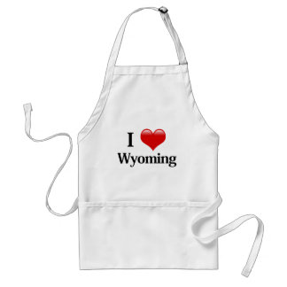 I Heart Wyoming Adult Apron