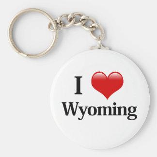 I Heart Wyoming Key Ring