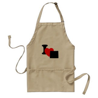I Heart Wyoming Standard Apron