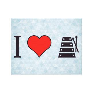 I Heart Xylophones Canvas Print