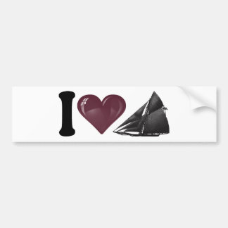I Heart Yachting Bumper Sticker