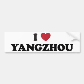 I Heart Yangzhou China Bumper Stickers