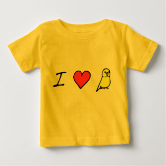 I Heart (Yellow) Budgies Baby T-Shirt