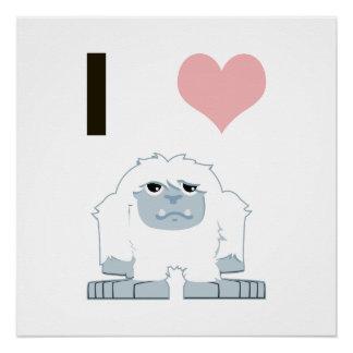 I heart yeti poster
