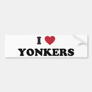 I Heart Yonkers New York Bumper Sticker