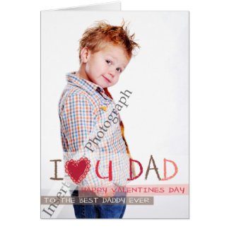I heart you DAD Card