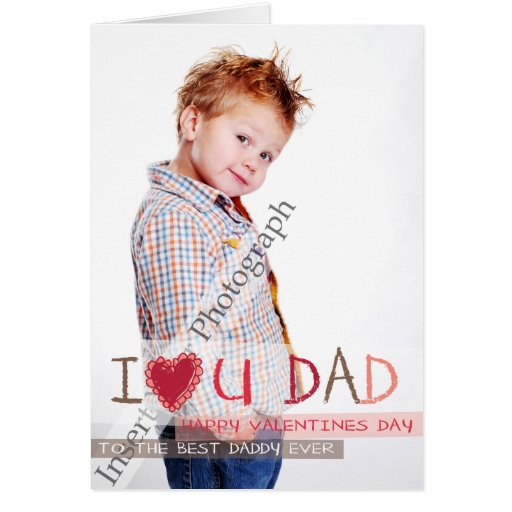 I heart you DAD Greeting Card