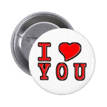 I Heart You Pinback Buttons