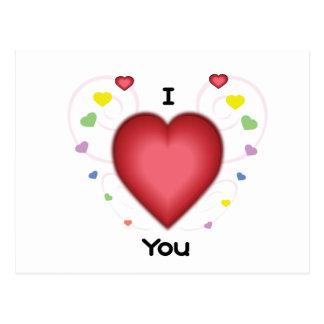I heart you postcard