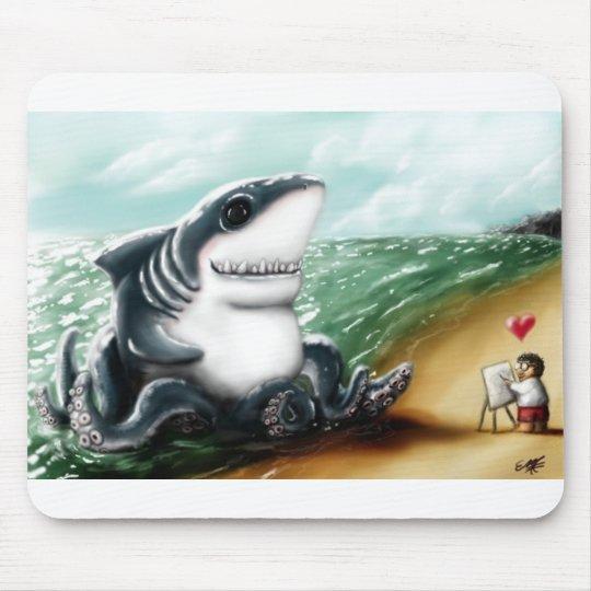 I heart you Sharktopus Mouse Mat