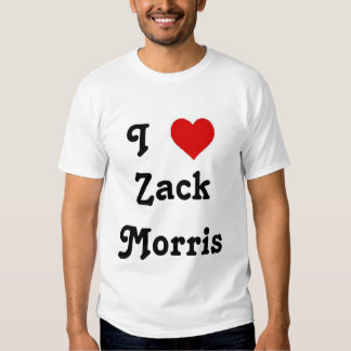 I Heart Zack Morris Tee Shirts