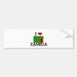 I HEART ZAMBIA BUMPER STICKER