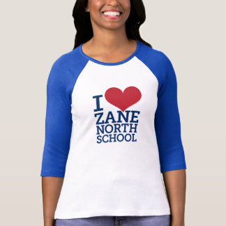 I Heart Zane North Ladies 3/4 Sleeve Baseball Tee