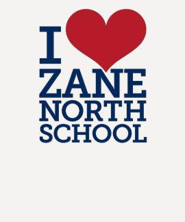 I Heart Zane North Ladies 3/4 Sleeve Baseball Tee